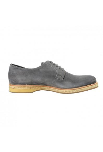 Prada Men's Gray Suede Leather Casual Oxfords Shoes: Picture 2