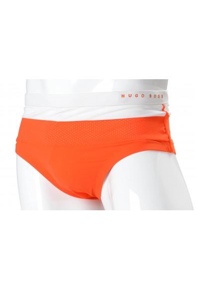 "Hugo Boss ""Rosefish"" Men's Orange Stretch Swim Briefs"