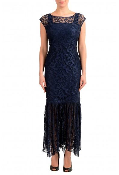 "Hugo Boss Women's ""Kalili-1"" Dark Blue Lace Evening Dress"