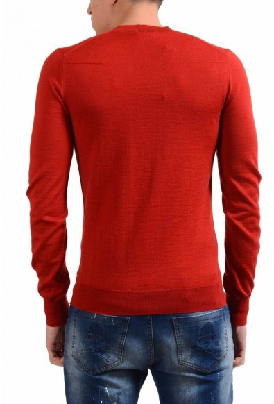 Christian Dior Men's 100% Wool Red V-Neck Sweater: Picture 2