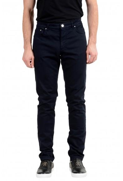 Versace Collection Men's Dark Blue Stretch Slim Jeans