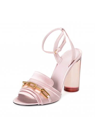 """Burberry London Women's """"COLEFORD"""" Pink Satin Leather High Heel Sandals Shoes"""