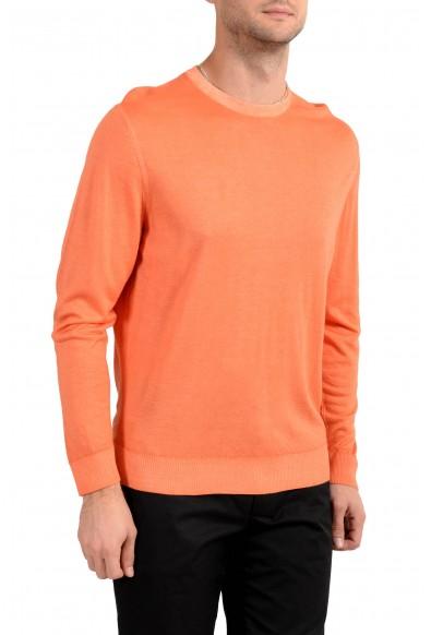 Kiton Napoli Men's Orange Crewneck Silk Cashmere Pullover Sweater: Picture 2