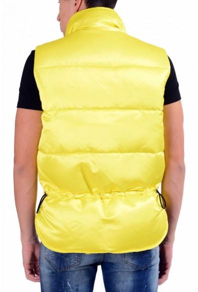 Dsquared2 Men's Bright Yellow Full Zip Down Vest: Picture 2