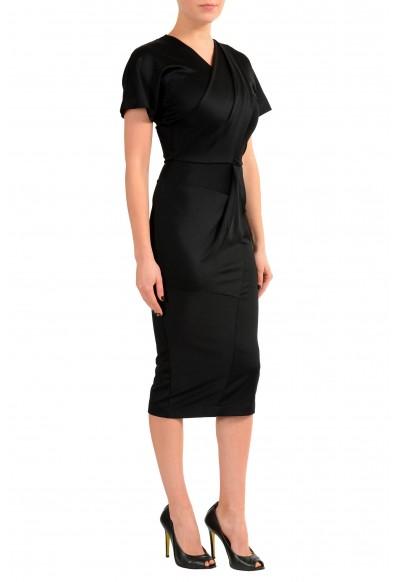 Just Cavalli Black Short Sleeve Women's Bodycon Stretch Dress: Picture 2