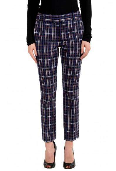 "Hugo Boss Women's ""Talenara2"" Multi-Color Plaid Pants"