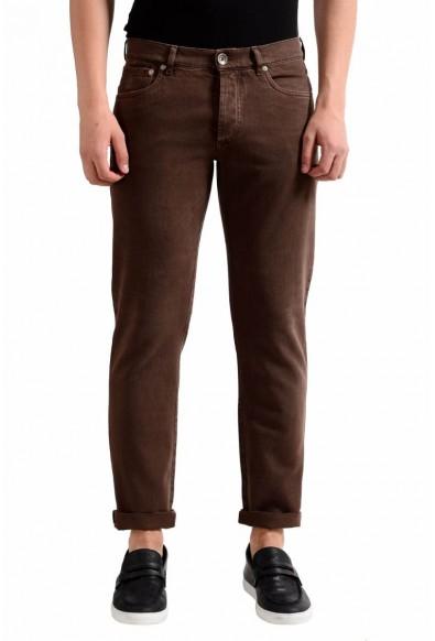 Brunello Cucinelli Men's Brown Slim Fit Jeans