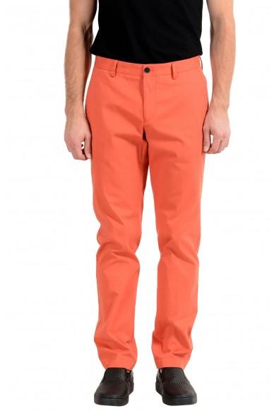 "Hugo Boss ""Stanino17-W"" Men's Orange Stretch Casual Pants"