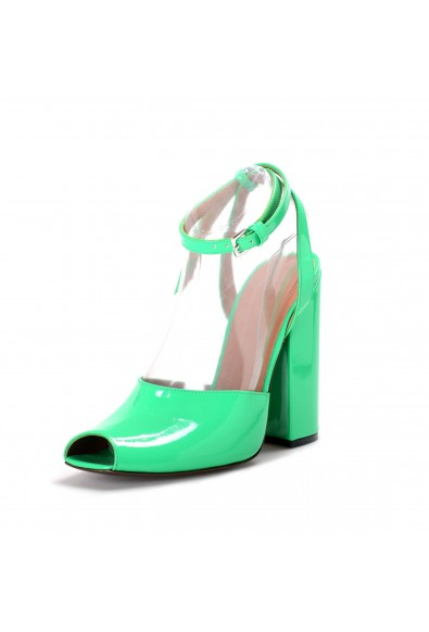 Marni Women's Green Patent Leather High Heel Ankle Strap Pumps Shoes