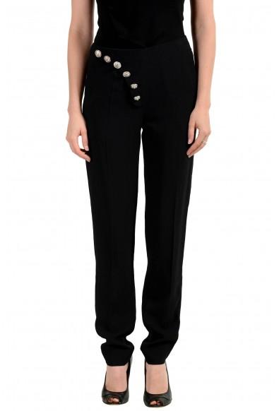 Versus by Versace Women's Black Button Decorated Pants