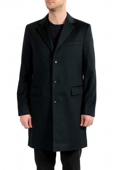 """Hugo Boss Men's """"T-Neon4"""" Deem Green Slim Fit 100% Cashmere Coat"""