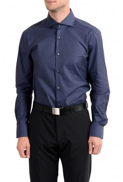 """Hugo Boss """"T-Christo"""" Men's Dark Blue Slim Fit Long Sleeve Dress Shirt"""