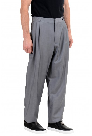 Versace Men's Wool Mohair Silk Gray Pleated Dress Pants : Picture 2