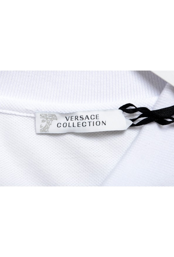 Versace Collection Men's White Short Sleeve Polo Shirt: Picture 4
