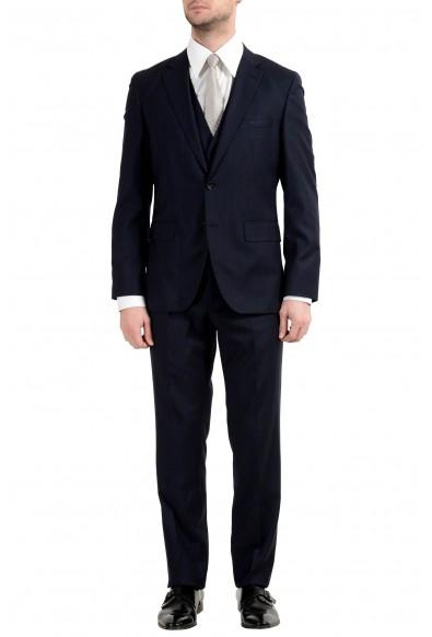 "Hugo Boss ""Jerron/Lenon1WE"" Men's 100% Wool Blue Two Button Three-Piece Suit"