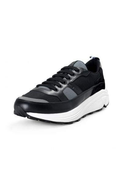 Car Shoe By Prada Men's Black Suede Leather Fashion Sneakers Shoes