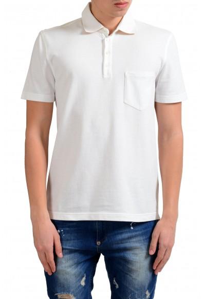 Malo Men's White Pocket Short Sleeve Polo Shirt