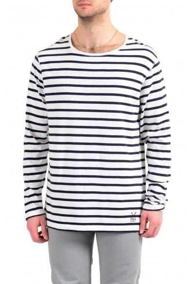 Burberry Men's Multi-Color Striped Crewneck Long Sleeve T-Shirt