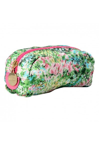 Red Valentino Women's Multi-Color Canvas Floral Print Cosmetic Bag