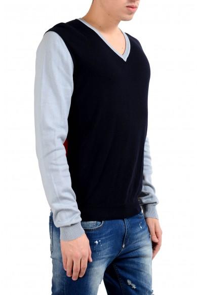 Malo Men's Multi-Color V-Neck Pullover Sweater: Picture 2