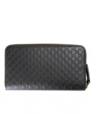 Gucci Women's Brown Leather Microguccissima Print Zip Around Wallet: Picture 2