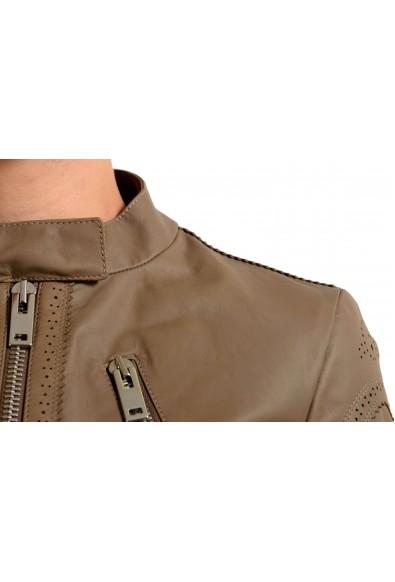 Maison Margiela 1 100% Calf Leather Gray Full Zip Women's Basic Jacket : Picture 2