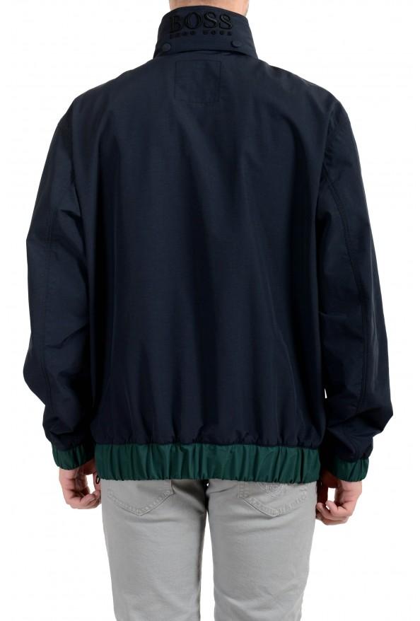 "Hugo Boss ""Okroos"" Men's 1/2 Zip Multi-Color Hooded Windbreaker Jacket: Picture 4"
