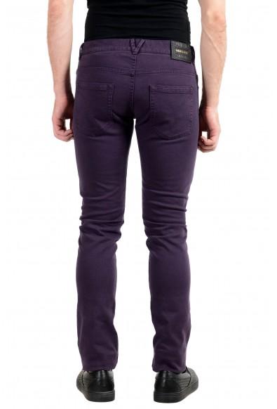 Versace Men's Purple Stretch Cody Fit Slim Jeans: Picture 2