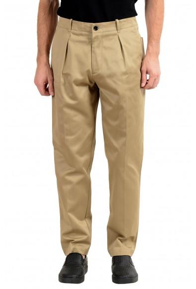 "Hugo Boss ""Kirio-Pleats-P"" Men's Beige Pleated Casual Pants"