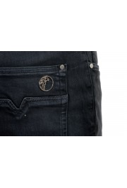 Versace Collection Men's Gray Slim Jeans: Picture 5