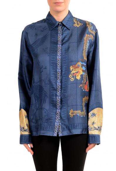 Versace Collection Women's Multi-Color 100% Silk Blouse Top