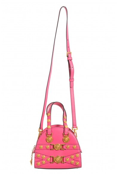 Versace Women's Tribute 100% Leather Pink Handbag Shoulder Bag