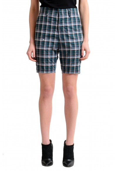 Dsquared2 Multi-Color Checkered Flat Front Women's Casual Shorts