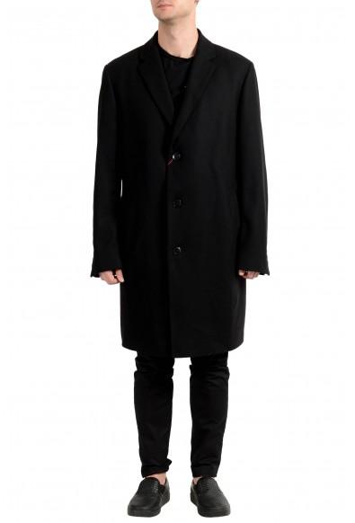 "Hugo Boss ""Miratus1841HP"" Men's Wool Black Three Button Coat"