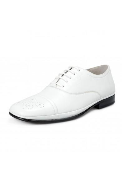 Salvatore Ferragamo Men's Maltes 02 White Leather Oxfords Shoes