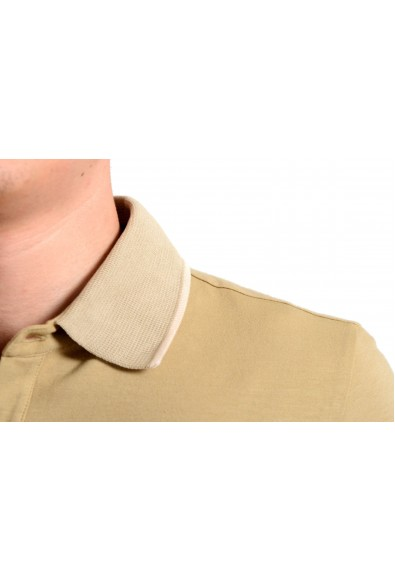 Malo Men's Beige Stretch Short Sleeve Polo Shirt: Picture 2