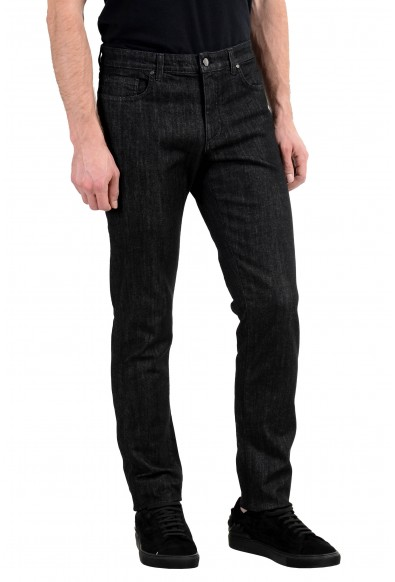 Versace Collection Men's Dark Gray Stretch Straight Leg Jeans: Picture 2