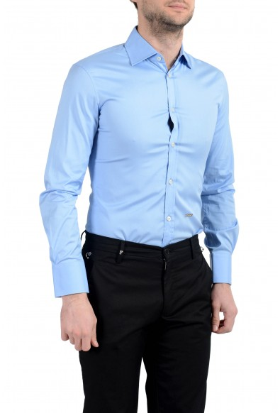 Dsquared2 Men's Blue Stretch Long Sleeve Casual Shirt : Picture 2