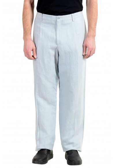 Dolce&Gabbana Men's Linen Light Blue Dress Pants