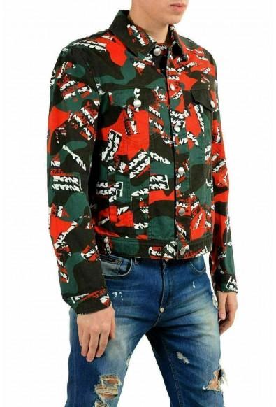 Versace Versus Men's Multi-Color Button Up Jean Jacket: Picture 2