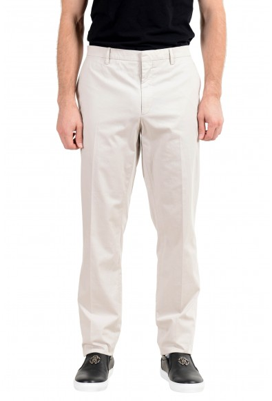 Burberry Men's Ivory Stretch Casual Pants