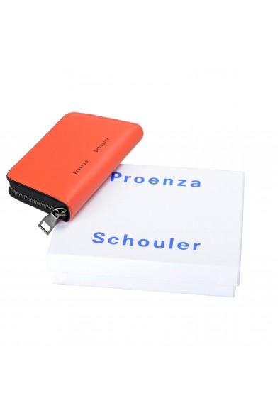 Proenza Schouler Women's Hot Coral 100% Leather Trapeze Zip Compact Wallet