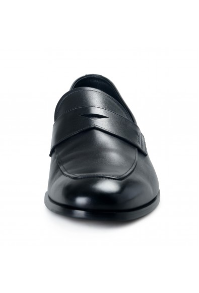 Prada Men's 2DB161 Black Polished Leather Loafers Slip On Shoes: Picture 2