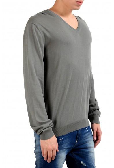 Malo Men's Earth Stone Gray V-Neck Pullover Light Sweater: Picture 2
