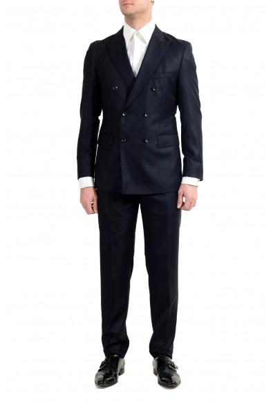 """Hugo Boss """"T-Navin/Bennet"""" Men's 100% Wool Dark Blue Double Breasted Suit"""
