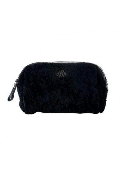 "Moncler ""Beauty Grande"" Black Leather Trim Women's Cosmetic Bag"