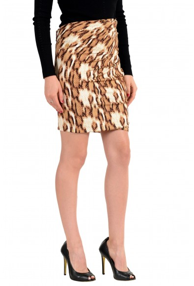 Just Cavalli Multi-Color Patterned Women's Stretch Pencil Skirt: Picture 2