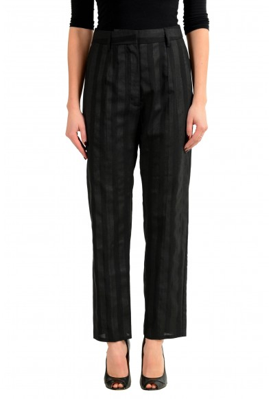 Maison Margiela MM6 Wool Multi-Color Striped Women's Casual Pant