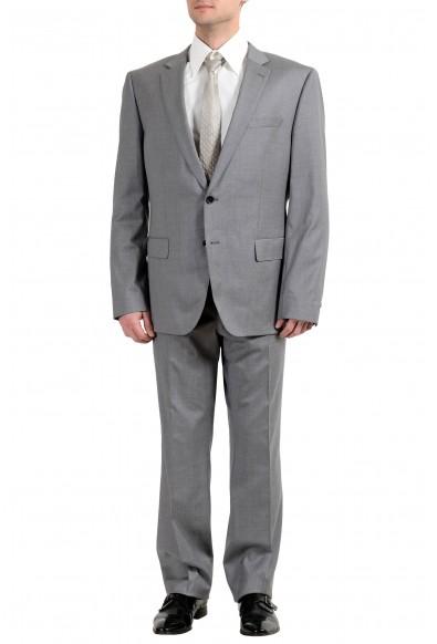 """Hugo Boss """"Huge6/Genius4"""" Men's 100% Wool Gray Slim Two Button Suit"""