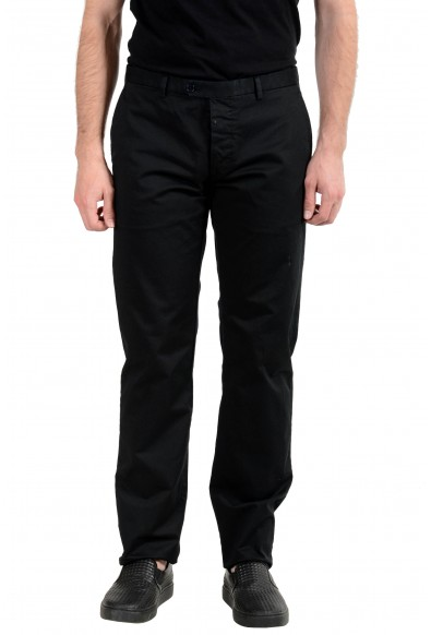 Malo Men's Black Stretch Casual Pants: Picture 2